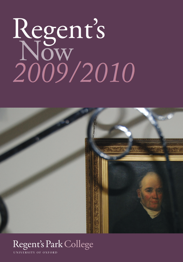 Regents Now Cover 2010