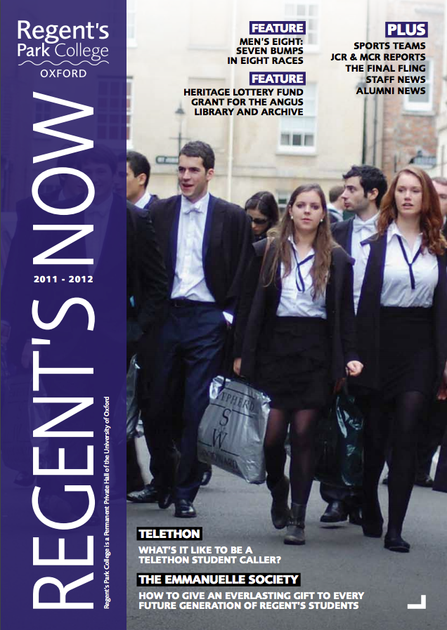 Regents Now Cover 2012